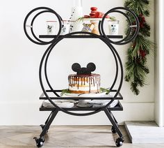 "Disney Mickey Mouse 30.5"" Kitchen Cart, Bronze - Super store Cocina Mickey Mouse, Mickey Mouse Kitchen, New Mickey Mouse, Mickey Mouse Bathroom, Disney Bathroom, Casa Disney, Disney Rooms, Disney House, Disney Dream"