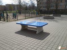 Pingpongtafel Afgerond Blauw bij Grundschule Dr. Salvador Allende in Wittenberge