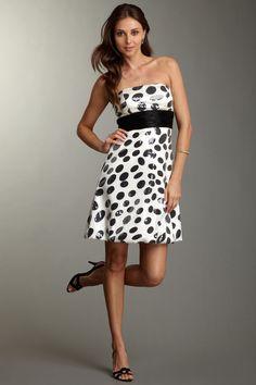 La Femme Sequined Dot Dress