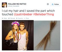 Justin Bieber fans are a special and terrifying breed of teens. I fan di Justin Bieber sono una razza di … Selena, Funny Memes, Hilarious, Funny Quotes, Cut My Hair, Dumb And Dumber, My Idol, I Laughed, At Least