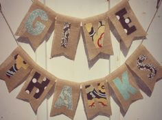 GIVE THANKS Decoration  Burlap Banner by BPStitches on Etsy