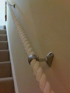 LOVE this! 24mm cotton rope used as a banister.