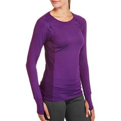Danskin Now Women's Active Long Sleeve Performance Tee - Walmart.com
