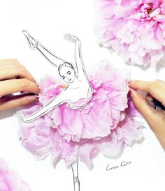 New Ideas Flowers Drawing Sketches Grace Ciao Grace Ciao, Fashion Sketchbook, Fashion Sketches, Drawing Fashion, Flower Petals, Flower Art, Arte Fashion, Fashion Design, Manequin