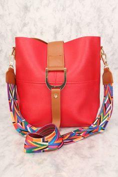 e2476153ccbc Sexy Red Tribal Strap 2 Pc. Bucket Handbag  cheapleatherhandbags Cheap  Handbags