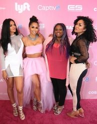 Geebin, Rosa Acosta, Echo Hattix and Kreesha Turner attending the Rosa Acosta 'Pretty in Pink' Cossamia Flagship Store Grand Opening on Melrose Avenue on October 4, 2015 held at the Cossamia, 7600 Melrose Avenue in Los Angeles, CA, USA on 10/04/2015 | WBU-029782