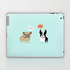 Dog Fart Laptop & iPad Skin by Anne Was Here - $25.00