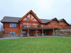 Real Log Home in Wisconsin | Real Log Homes since 1963 | Custom Log Homes | Log Home Floor Plans | Log Cabin Kits
