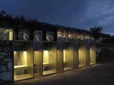 pavilion in the pond, llagostera by RCR Architects