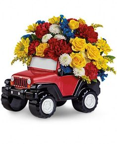 Jeep Wrangler King Of The Road by Teleflora Flowers, Teleflora.com