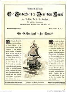 Original-Werbung / FALT-PROSPEKT 1909 : 4-Seiter BARTHOLD / DIE GESCHICHTE DER…