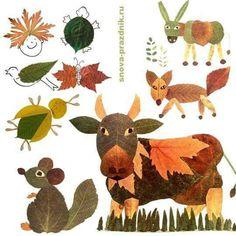 Yapraklardan hayvanlar
