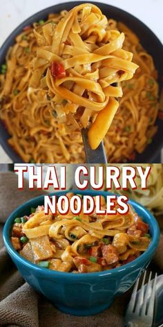Recipes Snacks Videos Thai Curry Noodles has a curry based sauce highlighted with coconut milk, bamboo shoots and peas. An authentic taste of Asia that is flavorful and very easy to prepare. Indian Food Recipes, Asian Recipes, Beef Recipes, Chicken Recipes, Cooking Recipes, Healthy Recipes, Healthy Thai Food, Thai Food Recipes Easy, Authentic Thai Recipes