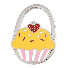 Amico Yellow Pink White Cake Pattern Padlock Shaped Folding Metal Handbag Hook by Amico. $6.26. Shade : Medium Yellow;Size : Small;Size Type : Regular. Net Weight : 61g;Package Content : 1 x Handbag Hook;Pattern : Cake Pattern. Brand : SourcingMap;Color : Yellow;Exact Color : Pink,Red,Silver Tone,White. Style : Foldable;Suitable for : Lady. Folded Size : 6.3 x 4.5 x 1.1cm/ 2.5 x 1.8 x 0.4 inches(L*W*T);Height : 6.3cm/ 2.5 inches;Material : Metallic,Rubber. Features red strawbe...