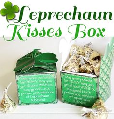 A FREE Printable Box for St. Patrick's Day gift giving. www.TheDatingDivas.com #free #printable #stpatricksday