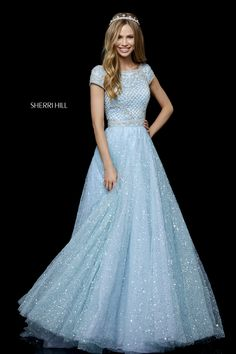 Sherri Hill 52276 dress for your next formal event at The Castle. We are an authorized retailer for all Sherri Hill dresses and every 52276 is brand new with all original tags! Sherri Hill Homecoming Dresses, Sherri Hill Prom Dresses, Prom Dresses With Sleeves, Prom Dresses Blue, Modest Dresses, Pretty Dresses, Formal Dresses, Bridal Dresses, Bridesmaid Dresses