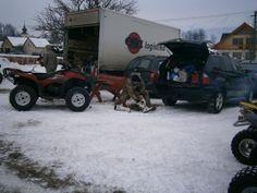 Naše kamiónové depo, aj s chystajúcim sa Jurom.