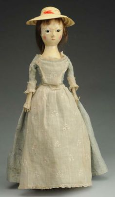Lot 590 Stately English Queen Anne Doll Old Dolls Antique