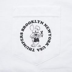 THUMPERS BROOKLYN NYC USA / THUMPER RABBIT POCKET TEE(WHITE)