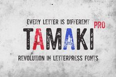 Tamaki-Pro font @creativework247
