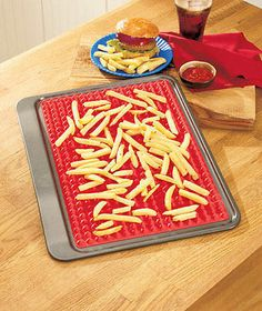 Healthy Silicone Cooking Mat Microwave Oven Safe Kitchen Chips Pizza Chicken New