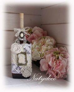 bouteille décoré de dentelle NATYDECO http://www.natydecocorse.com