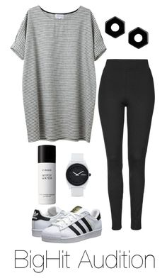 """""""Auditioning for BigHit"""" by btsoutfits ❤ liked on Polyvore featuring adidas Originals, Nixon, Byredo, Marc by Marc Jacobs and Topshop"""