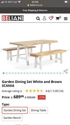 Garden Dining Set, Dining Bench, Furniture, Home Decor, Decoration Home, Table Bench, Room Decor, Home Furnishings, Home Interior Design