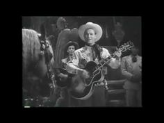 """King of the Cowboys ROY ROGERS introduces Cole Porter's brand new western ballad, """"DON'T FENCE ME IN"""" in the 1944 film, """"HOLLYWOOD CANTEEN"""". He is accompanied by the Sons of the Pioneers. He also does a few tricks with Trigger.    The movie was a World War II star parade featuring real Hollywood Canteen founders Bette Davis and John Garfield as well as The Andrews Sisters, Ida Lupino, Joan Leslie, Dennis Morgan, Kitty Carlisle, and lots more!"""