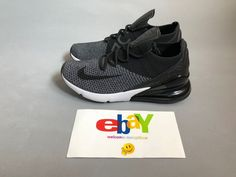9fef1e349a162 Nike Air Max 270 Flyknit Oreo Black Grey White AO1023-001 #Nike  #AthleticSneakers