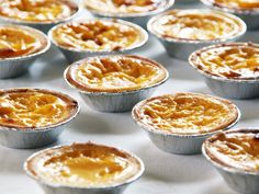 Egg Tart - Portuguese style tarts filled with egg custard baked in a short crust pastry