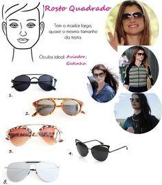 Óculos De Sol Feminino, Óculos Feminino, Óculos Para Rosto Redondo, Oculos  De Sol c74973ccc9
