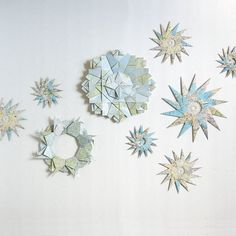 Origami Sculpture Map Paper Wreath Vintage Map Compass by bookBW, $48.00