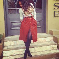 Fashion, skirts, vintage skirts, mum's closet raid, scarves, twist braids