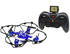 Ei-Hi Alien Bug S80C 2.4GHz 4 Channel 8 Axis Gyro RC Remote Control Helicoptor Quadcopter UFO Drone with 0.3MP Camera (Blue or Red)