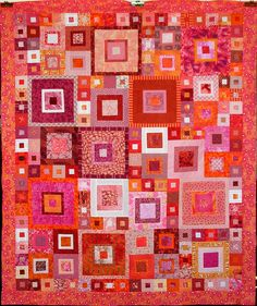Some quilts shown here are for sale by the artists. I am not selling quilts and receive no financial. Scrappy Quilts, Baby Quilts, Mini Quilts, Quilting Projects, Quilting Designs, Quilt Modernen, Red And White Quilts, White Fabrics, Log Cabin Quilts