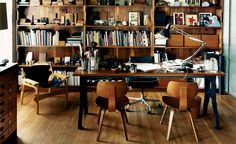 Robin Standefer's office, as pictured in March 2007 issue of Wallpaper*. Photography: Douglas Friedman