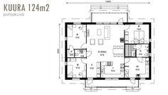 Kuura 124 House Plans, New Homes, Floor Plans, How To Plan, Flow, Decoration, Home Decor, Ideas, Decor