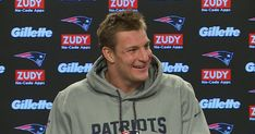 Patriots tight end Rob Gronkowski addresses the media during his press conference at Gillette Stadium on Friday, December 29, 2017.