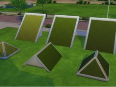 "sssvitlans: "" Grass Roof Texture - 3 shades by Mastertiti (Sims 4) Original EA grass texture now for the roofs ! 3 Shades of Green - Light/medium/dark. Standalone, come with the 3 shades of green in..."