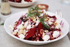 Fingerling Potato, Farro, Radicchio, & Beet Salad
