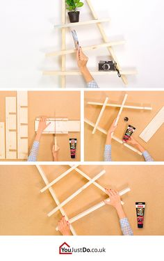 Learn how to build a shelf that will not only give you plenty of space, but also add more style to your living room. Discover other ways to decorate your room at www.youjustdo.co.uk