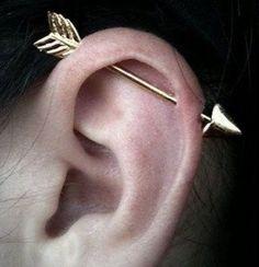 Gold Ear Jackets + Black Sparkly Spikes- gold ear jacket/ ear jacket spike/ ear jacket gold/ ear jacket earring/ ear cuff/ gifts for her - Fine Jewelry Ideas Piercings Ideas, Ear Piercings Chart, Types Of Ear Piercings, Piercings For Girls, Ear Peircings, Daith Piercing, Tragus, Cartilage Earrings, Arrow Earrings
