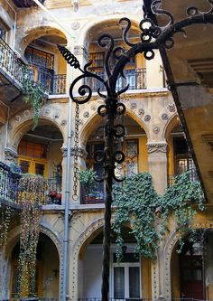 Inner courtyard in Budapest, Hungary. Compliments of Estate ReSale ReDesign, Bonita Springs, FL
