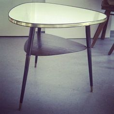 SOLD ^v^ 50s Couch Table Beauty