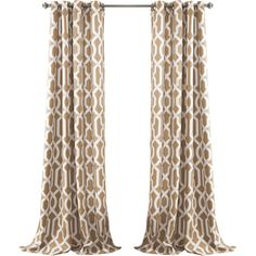 Add a pop of pattern to your master suite or living room with this eye-catching curtain, showcasing a trellis print.Product: Set ...