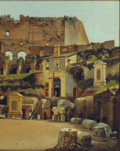 Materials: oil on canvas. Dimensions: 32 x 25.5 cm. Source: Som mange europæiske kunstnere igennem tiderne rejste den danske maler C. W. Eckersberg i 1813 til Rom for at studere byens berømte kunst...