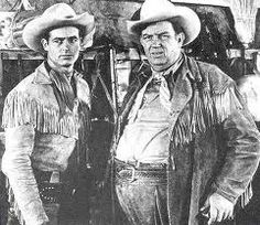 """Hey Wild Bill, wait for me!""  Wild Bill Hickock and Jingles played by Guy Madison and Andy Devine."