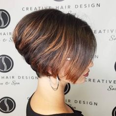 Nape-Length Stacked Highlighted Bob
