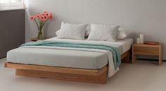 kyoto platform bed with drawers - http://www.naturalbedcompany.co.uk/kyoto_platform_wooden_bed.php